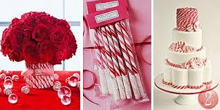 Candy Cane Theme Decorations 60 Creative Christmas Wedding Themes 60