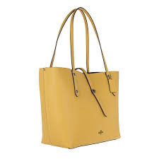 Coach Pebbled Leather Market Tote Flax in Yellow - Lyst