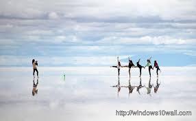 salar de uyuni salt flat mirror hd