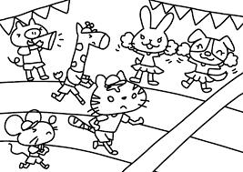 9月の無料ぬりえお月見運動会秋の味覚トンボバッタ等保育園
