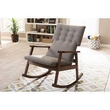 baxton studio agatha mid century modern rocking chair master under black garden chairs outdoor ikea fabric