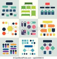 Structural Flow Diagrams Flowcharts And Flowing Process Structures Vector Infographics Elements