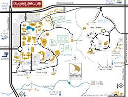oakland university map  rochester hills michigan • mappery