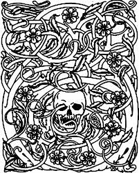 Small Picture halloween skeleton and bramble Halloween Coloring pages for