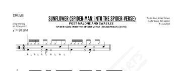 Drum Charts Post Malone And Swae Lee Sunflower