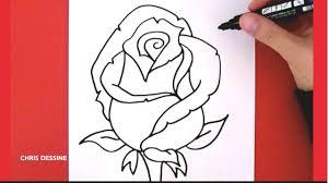 Dessin Facile Comment Dessiner Une Rose Chris Dessine Youtube
