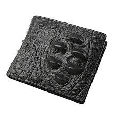 whole new fashion brand bifold wallet men s leather crocodile pattern wallet credit id card holder billfold purse wallet gift