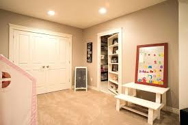 basement ideas for kids. Basement Ideas For Kids Elegant Unfinished Playroom With Center Laundry Hampers Gray Walls