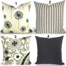 black and tan striped outdoor pillows pillow covers ticking