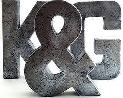 Faux Metal Letters | Zinc, Metal, Farmhouse, Antique, Vintage, Industrial,