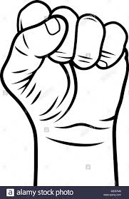 Male fist vector illustration fist held in protest revolt symbol stock image