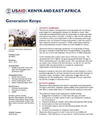 generation u s agency for international development