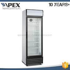 china 360l single door upright showcase cooler glass