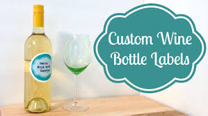 Diy Wine Bottle Labels Diy Custom Wine Bottle Labels Partycrafthoa Youtube