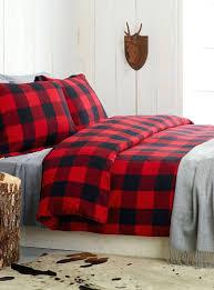 buffalo check flannel duvet cover set simons maison duvet covers simons red flannel duvet
