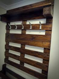 rustic coat rack with shelf reclaimed wood hat and coat