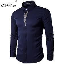 <b>2019 Men Casual</b> Long Sleeved Shirts <b>New</b> Summer Fashion shirt ...