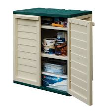 rowlinson plastic utility cabinet green and white