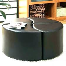 black leather coffee table with storage round black leather ottoman large leather coffee table ottomans leather