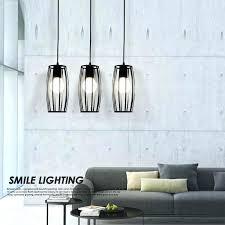 cube pendant light modern led lights for home black bar lamp hanging dinning room rustic loft