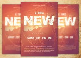 church invitation flyers all things new church flyer template inspiks market