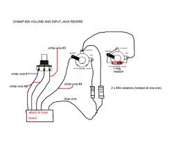 mod help champion 600 no sound the gear page here s the wiring diagram i found i think the pic after is from the same guy who drew the diagram sucks that it s so small i can t the writing by