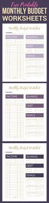 free family budget worksheet free printable monthly budget worksheets printable budget