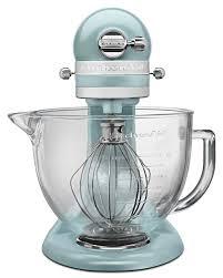 ice blue kitchenaid mixer. KitchenAid Mixer Artisan 5 Quart Glass Bowl Mixer, Azure Blue - KSM155GBAZ Ice Kitchenaid T