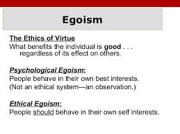ethical egoism theory essay