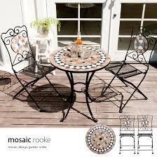 deco garden furniture. garden table set 3point mosaic gardentablecheart stylish veranda chair furniture outdoor deco