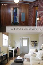 how to paint wood paneling young