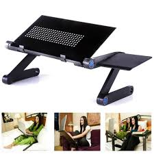 360 foldable laptop desk table cooling fan hole stand portable lapdesks tray new laptop stand adjule