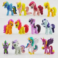 <b>12 pcs</b>/<b>set</b> 3 5cm <b>My</b> little pony PVC Rainbow horse <b>cute</b> little horse ...