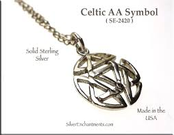sterling silver celtic alcoholics anonymous symbol charm