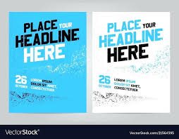 Layout Design Template For Sport Event Royalty Free Vector