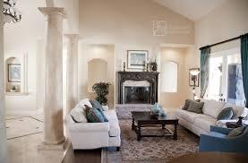 White Italian Living Room mediterranean-living-room