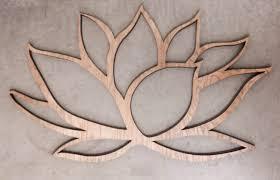 lotus flower wall art wood