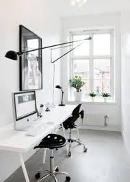 White work desk Remodel Study Narrow With Workspace For Two Small Home Offices Small Office Pinterest 488 Best Workspaces Images Command Centers Design Offices Desk