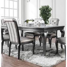 Shop Furniture Of America Valencia Glam Silver Grey Dining Table