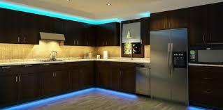 kitchen strip lighting. Kitchen Cabinets With Blue LED Strip Lighting P