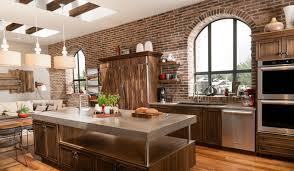 brick accent wall in contemporary loft