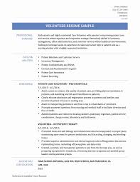 Resume Volunteer Examples Resume Volunteer Experience Sample Beautiful Resume Sample Volunteer 1