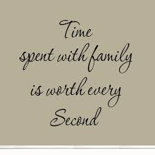 Family Time Quotes Best Time Spent With Family Is Worth Every Second Art Quote Vinyl Letters