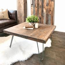 bunch ideas wooden coffee table with hairpin legs white shanty