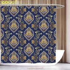 indian print curtains block