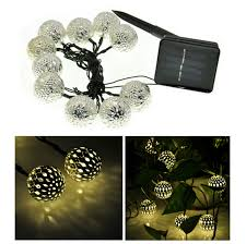 moroccan outdoor lighting. moroccan outdoor lighting 10 balls string lights solar powered led fairy christmas decoration t