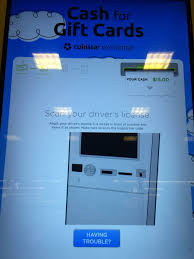you ll need to enter the pin code then deposit the gift card into the kiosk