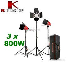 photo studio continuous lighting kit red head spot light 3 x 800w focusable with stand bag studio lighting kit light stand with 339 59 piece
