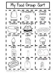 My First Grade Food Sort Pdf