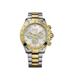 hugo boss watches boss watches uk ernest jones hugo boss men s stainless steel gold plated bracelet watch product number 1425706